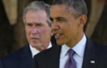 Obama, G.W. Bush make history on Africa visit