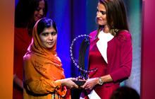 Watch: Malala Hillary 2016 nod in CGI award speech