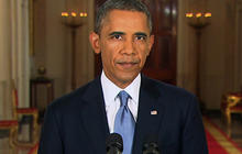 President Obama issues call to wait on Syria