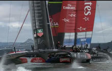 Near collision in America's Cup