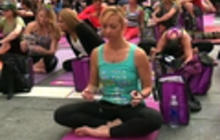 Mass solstice Yoga class in NYC's Times Square