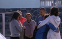 First family visits Mandela prison