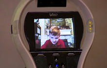 Robot helps ill third-grader attend school