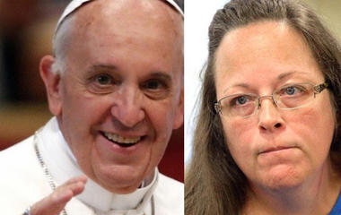 Kim Davis's lawyers say she met with Pope
