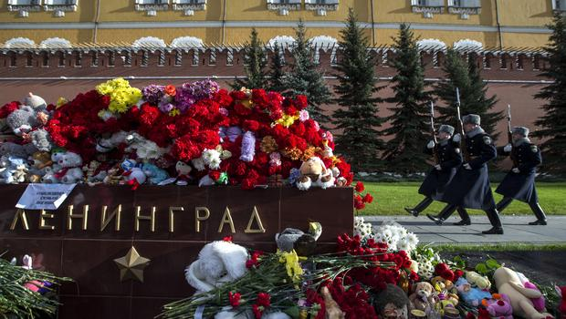 The Kremlin guards pass flowers and also toys laid at the memorial stone with the word Leningrad (St. 3, 2015.<br><br>On Friday, Russia announced that it'll suspend all flights to always be able to Egypt until security is improved in its airports.<br><br>