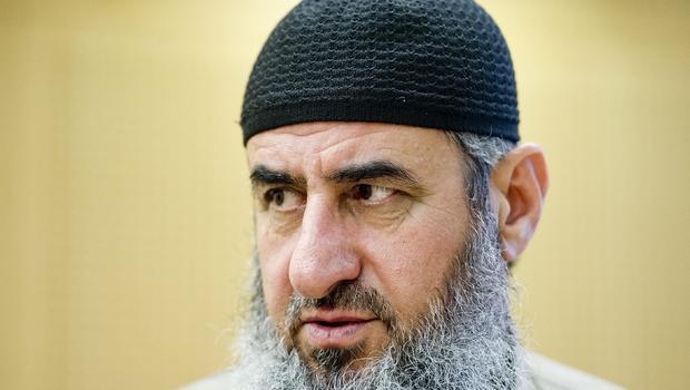 Najmaddin Faraj Ahmad, known as Mullah Krekar, is seen in a court in Oslo