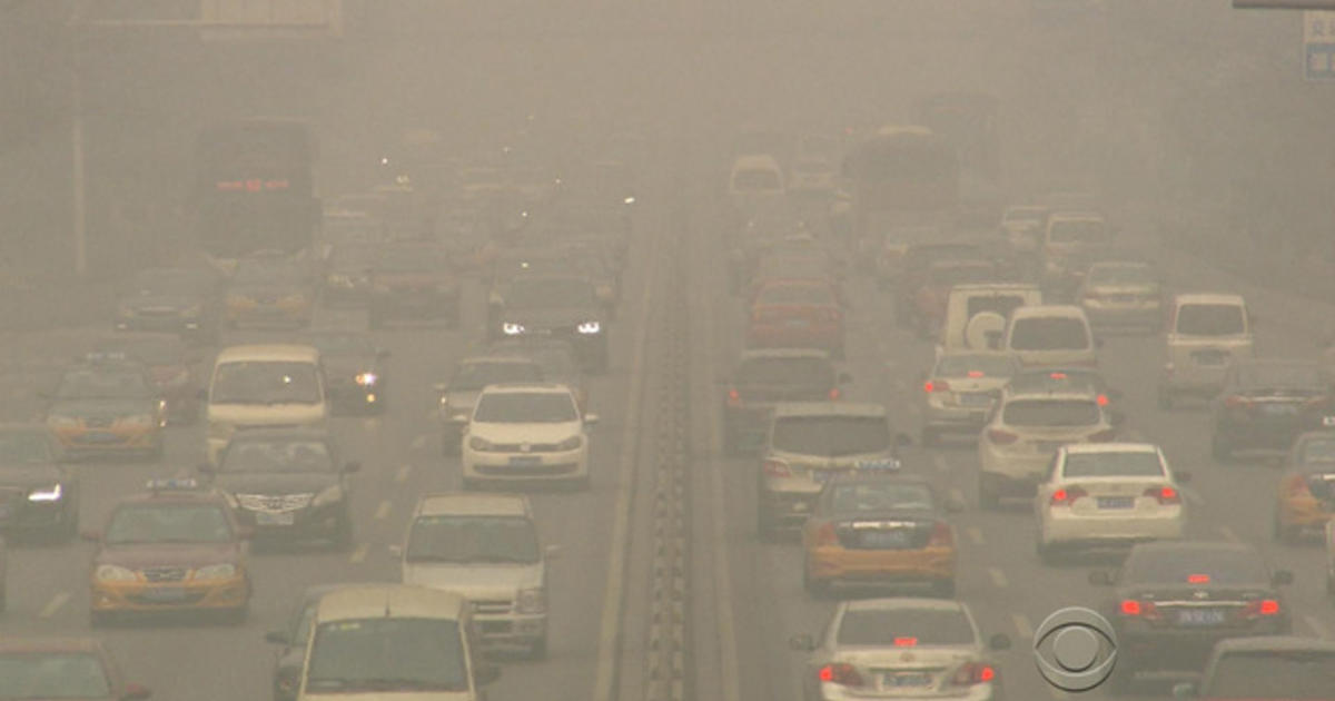 chinese capital being choked by smog videos cbs news. Black Bedroom Furniture Sets. Home Design Ideas