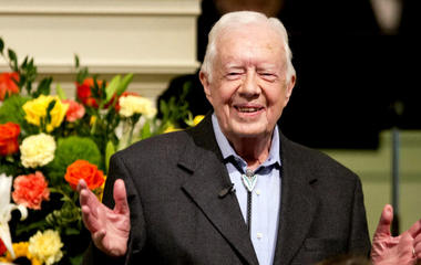 President Jimmy Carter announces he's marinated of cancer