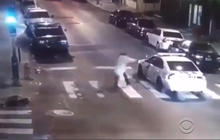 Surveillance video shows attack on Philadelphia police officer