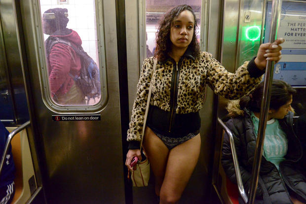 Video shows New Yorkers on the 15th annual No Pants Subway