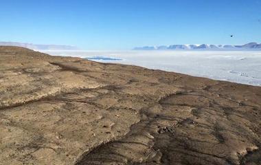 Aerial view of Petermann Glacier