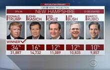 Donald Trump victorious in New Hampshire GOP primary
