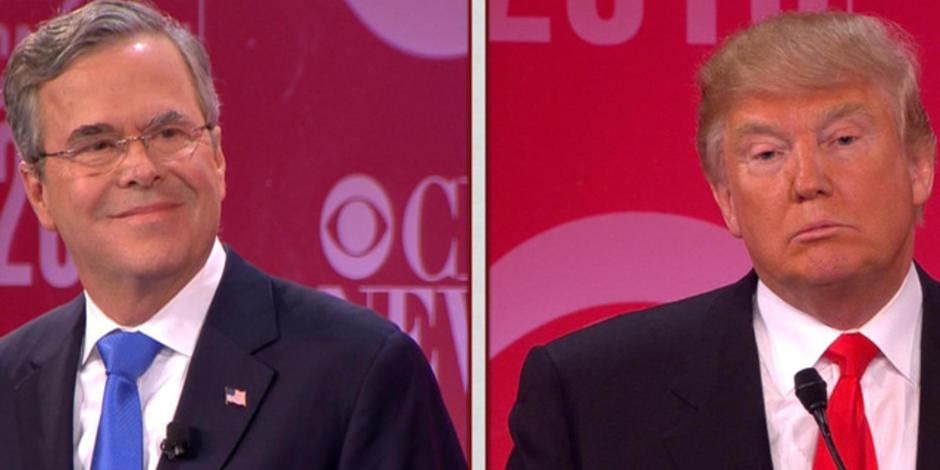 news republican debate donald trum bush clash over iraq