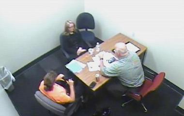 Investigators grill suspected killer's wife in interrogation