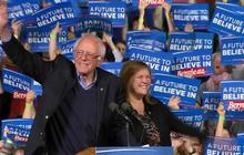 Bernie Sanders celebrates primary win in home state