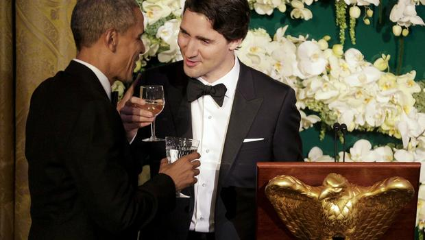 President Obama, Canada's Justin Trudeau trade jokes at State Dinner