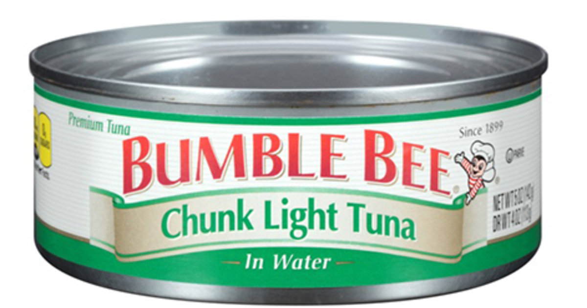 bumble bee recalls 31 000 cases of canned tuna cbs news. Black Bedroom Furniture Sets. Home Design Ideas