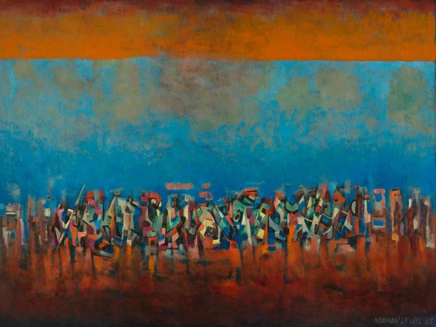 Quot Umbrella Quot Abstract Artist Norman Lewis Pictures Cbs