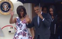 President Obama arrives in Cuba on historic visit