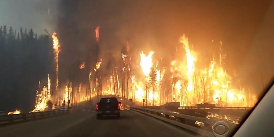 5/5:  Wildfire drives massive evacuation in Alberta, Canada; Brothers prepare to reach for Kentucky Derby history