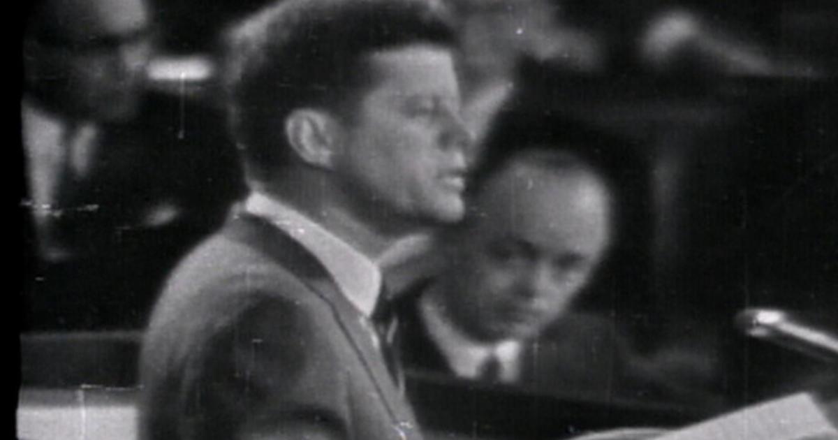 This Day In History John F Kennedys Moon Shot Speech Videos CBS News
