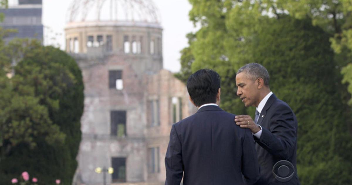 Obama pays emotional visit to Hiroshima