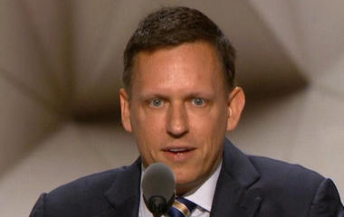 Entrepreneur Peter Thiel speaks to RNC