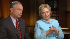 Unaired 60 Minutes clips with Clinton and Kaine