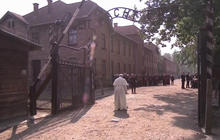 Pope Francis becomes third pontiff to visit Auschwitz