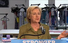 Hillary Clinton visits factory that employs refugees