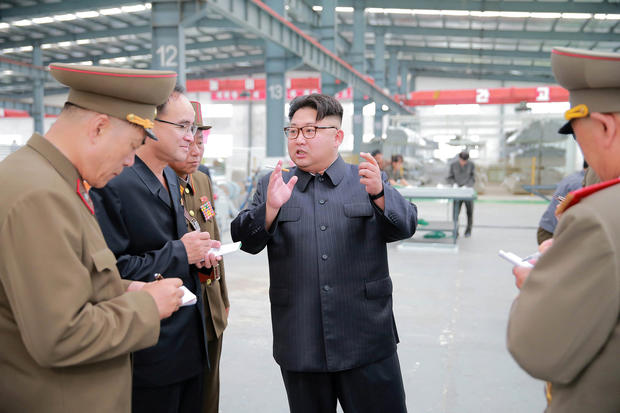 North Korean leader Kim Jong Un visits the Chollima Building Materials Complex, in this undated photo released by North Korea's Korean Central News Agency (KCNA), July 27, 2016.