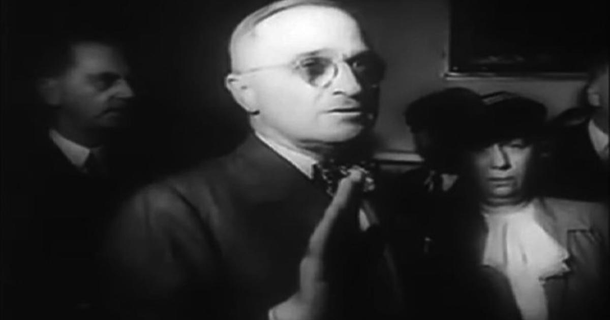 Harry Truman sworn in as president after FDRs death