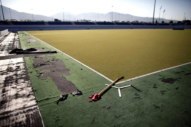 Swimming Pool 2004 Athens Olympics Abandoned Olympic Venues Pictures Cbs News
