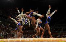 U.S. women gymnasts go for gold