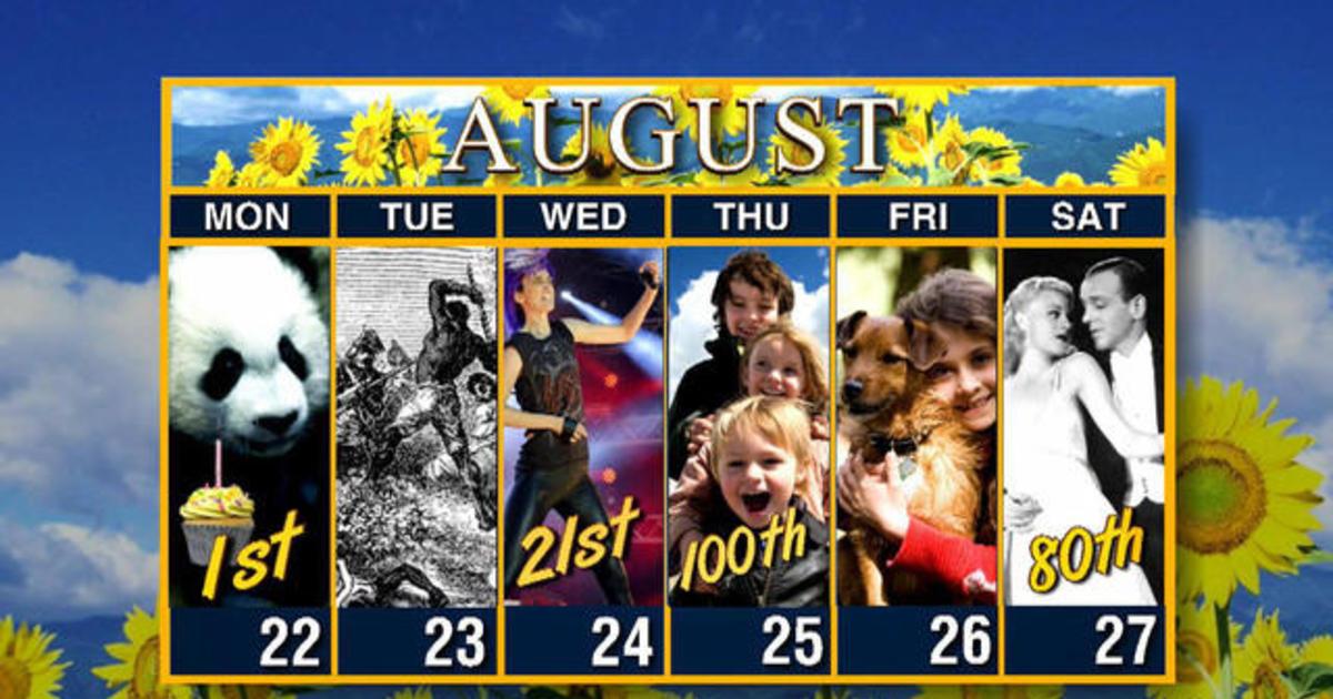 Calendar: Week of August 22