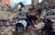 Rescue crews search for survivors after earthquake rocks Italy