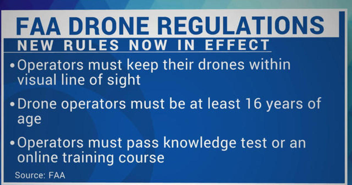 New FAA drone rules go into effect - Videos - CBS News