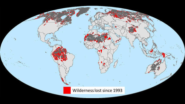 Human destruction: 10 percent of Earth's wilderness gone in last 20 years