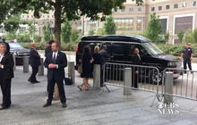 Hillary Clinton leaving the 9/11 anniversary ceremony early