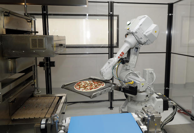 invasion of the pizza making robots cbs news. Black Bedroom Furniture Sets. Home Design Ideas