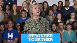 Clinton casts herself as the candidate who can handle terrorism