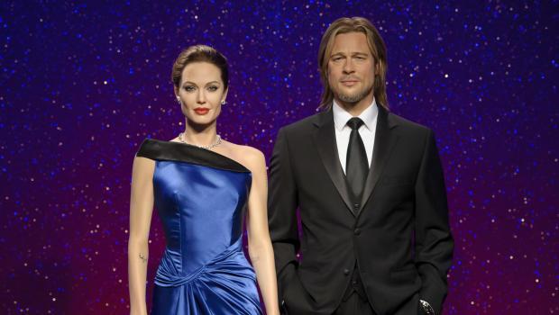 Angelina Jolie Brad Pitt Wax Figures Separated At Madame