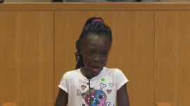 Young girl makes tearful plea at Charlotte city council meeting