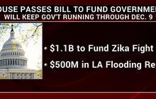 House approves Zika funding, passes spending bill through Dec.