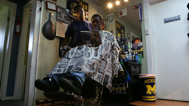 Barber Ypsilanti : Alex Fuller cuts hair at his barbershop, where he offers a $2 discount ...