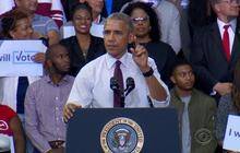 Obama responds to heckling Trump supporter at rally