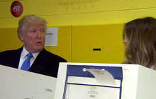 Donald Trump casts vote on Election Day