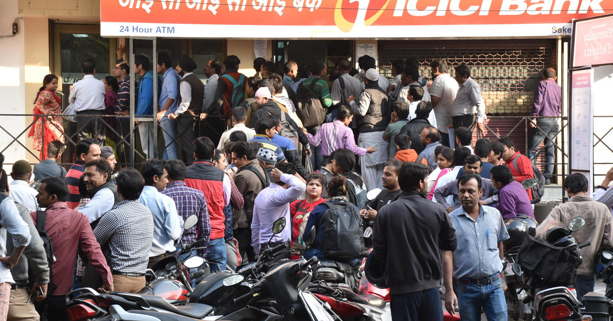 """Cash chaos after shock move targeting India's """"black money"""""""