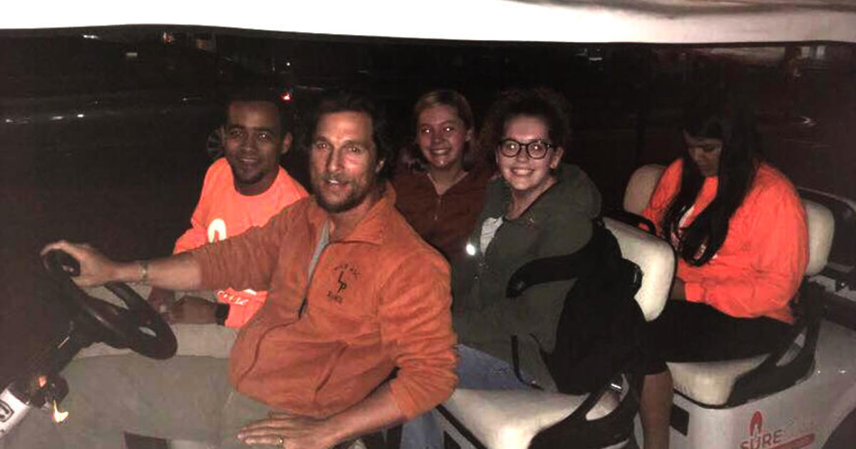 Matthew McConaughey gives University of Texas students a safe ride home