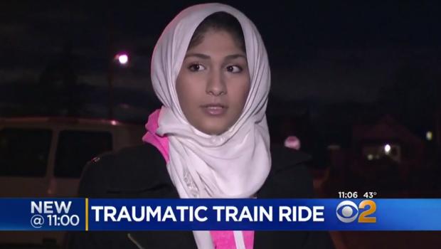 Trio taunted Muslim woman aboard subway train